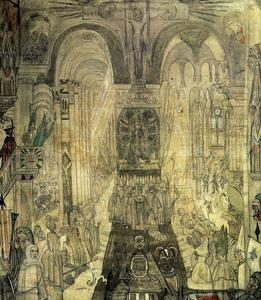 James Ensor - Soudards penitentes dans une cathedrale