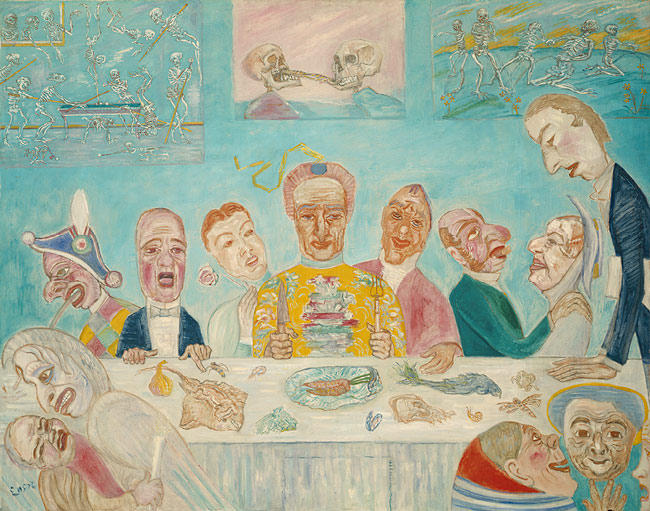 O banquete do Starved por James Ensor (1860-1949, Belgium) | WahooArt.com
