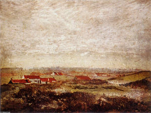 James Ensor - Os Flats flamengos visto a partir do Dunes
