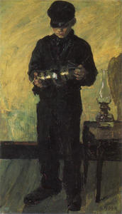 James Ensor - O Lamp-Boy ( o `lamplighter )