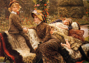 James Jacques Joseph Tissot - O banco do jardim