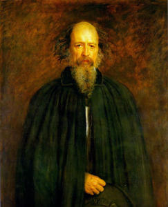 John Everett Millais - Retrato de lord alfred tennyson