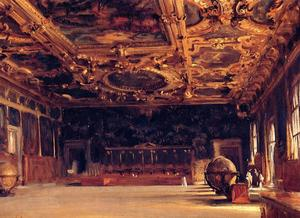 John Singer Sargent - Interior do palácio do Doge