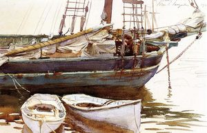 John Singer Sargent - Escuna , Catherine , Somesville , Maine