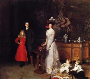 John Singer Sargent - sir george sitwell , lady sitwell ida e família