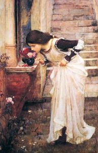 John William Waterhouse - No Santuário