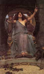 John William Waterhouse - Circe que oferece o copo a Ulysses