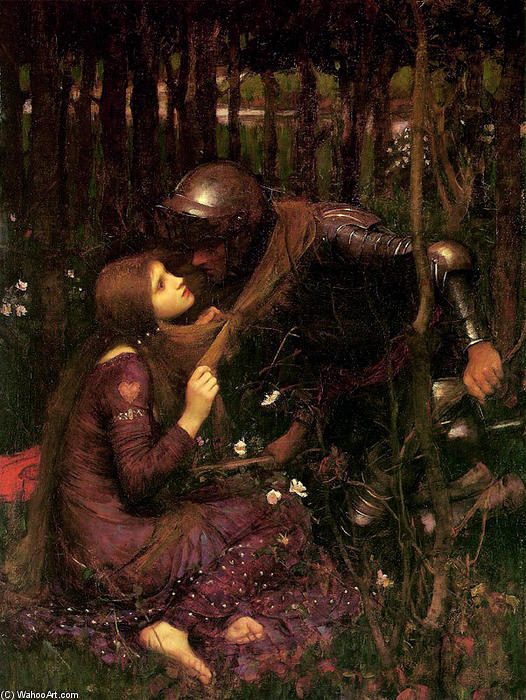 La belle dama sans merci por John William Waterhouse (1849-1917, Italy) | Copy Pintura | WahooArt.com