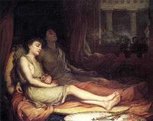 John William Waterhouse - sono e morte do meio-irmão