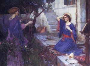 John William Waterhouse - a anunciação