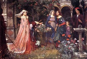 John William Waterhouse - o jardim encantado