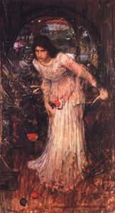 John William Waterhouse - A senhora do estudo de shalott
