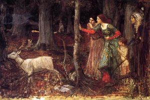 John William Waterhouse - the mystic wood