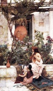 John William Waterhouse - o banheiro ( aka no capri )