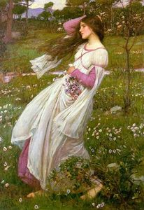 John William Waterhouse - Windflowers ( Varrida pelo vento )