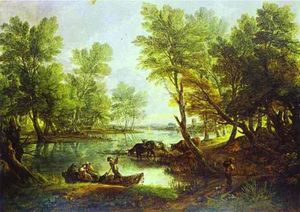 Thomas Gainsborough - Vista de King-s Bromley-on-Trent , Staffordshire