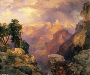 Thomas Moran - grand canyon com arco íris
