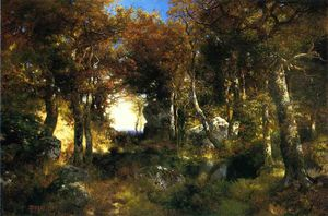 Thomas Moran - O Woodland Piscina