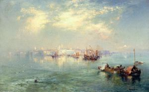 Thomas Moran - Vera Cruz Harbor, México