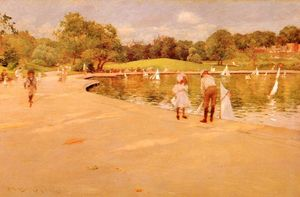William Merritt Chase - Liliputiano Boat-Lake - central parque