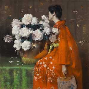William Merritt Chase - Peônias