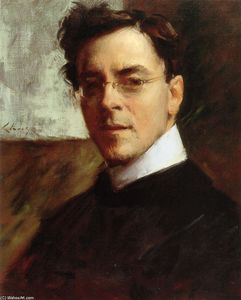 William Merritt Chase - Retrato de Louis Betts