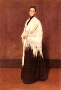 William Merritt Chase - retrato da sra . C . 1