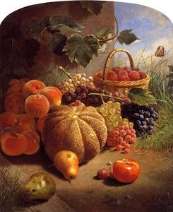 William Merritt Chase - Natureza morta com frutas