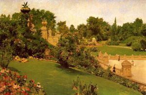 William Merritt Chase - terraço no shopping , parque central