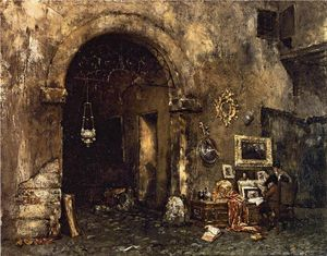 William Merritt Chase - O Antiquary Loja