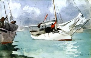 Winslow Homer - barcos de pesca , key west