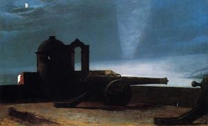 Winslow Homer - searchlight em harbor entrance , SANTIAGO DE CUBA