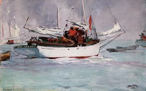 Winslow Homer - Esponja Barcos , Chave West