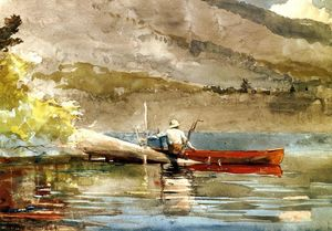 Winslow Homer - A Red Canoe