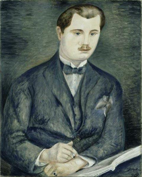 Retrato de Paul Guillaume, óleo por André Derain (1880-1954, France)