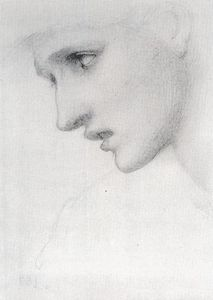 Edward Coley Burne-Jones - profile` ao esquerda