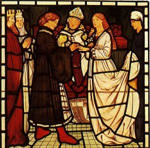 Edward Coley Burne-Jones - O casamento de Tristram e Isoude Les Blanches Mains
