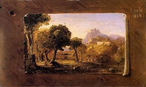 Thomas Cole - estudo para dream of arcadia