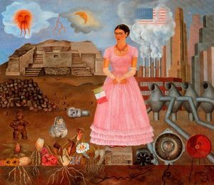 Frida Kahlo - Self-Portrait no Bordeline Entre No méxico e o Unido Estados