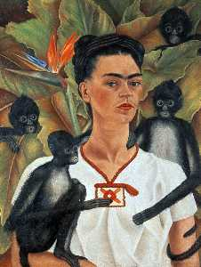 Frida Kahlo - Self-Portrait com macacos