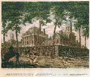 Thomas Birch - Pensilvânia Hospital , no pine street philadelphia