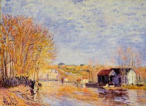 Alfred Sisley - Alto Waters em Moret-sur-Loing