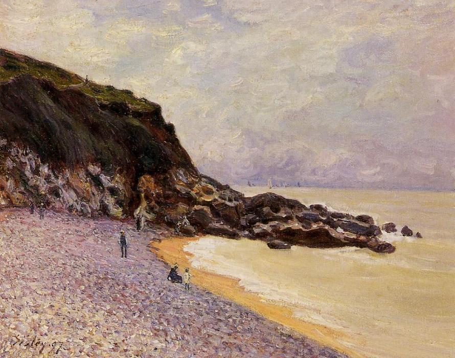 lady cove s antes do storm ( Hastings ), 1897 por Alfred Sisley (1839-1899, France) | Copy Pintura | WahooArt.com