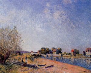 Alfred Sisley - canal loing no santo Mammes