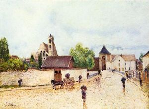 Alfred Sisley - Moret-sur-Loing, Chuva
