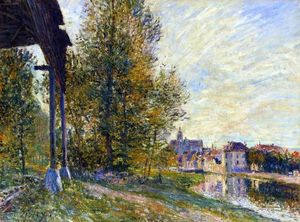 Alfred Sisley - Perto Moret loing sur