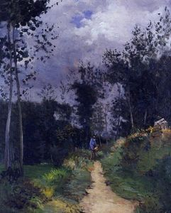 Alfred Sisley - Guarda Rural na Floresta Fountainbleau