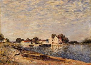Alfred Sisley - Saint-Mammes, nos bancos do Loing