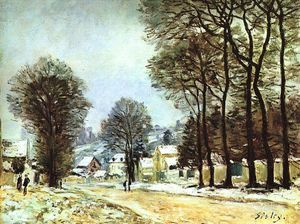Alfred Sisley - neve na louveciennes