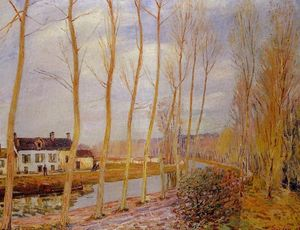Alfred Sisley - O Canal Loing na  Mais t